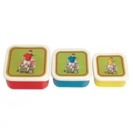 Snackdoosjes Voetbal Set 3