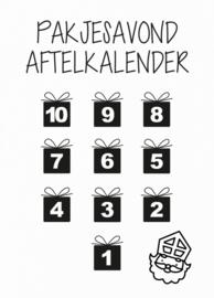 Aftelkalender Kaart Sint