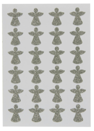 Stickervel met 24 ANGEL Glitter Stickers | IB Laursen