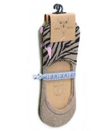 Sneakersokken | set 2 paar | Leopard & Zebra | Love Ibiza