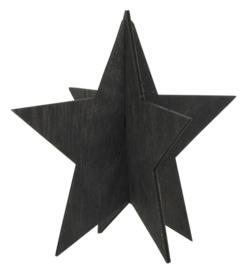 Staande Ster Zwart | 13 cm | Hout | IB Laursen