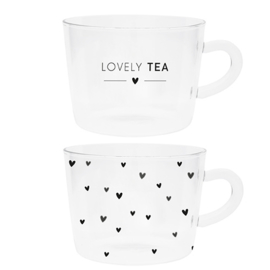 Thee Glazen | Lovely Tea & Hearts | Set 2 | Bastion Collections