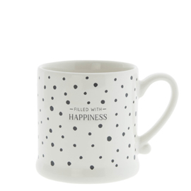 Mok | Dots | Happiness | Wit/Zwart | Bastion Collections