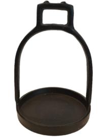 Stijgbeugel Kandelaar | Zwart Metaal | Medium