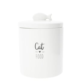 Voorraadpot Cat ♥ Food | Wit/Zwart | Bastion Collections