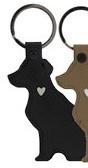 Sleutelhanger DOG | Zwart | Bastion Collections