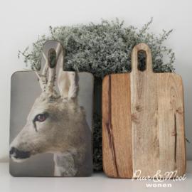 Snij- Serveerplank Hert | Mangohout | Nino-Art
