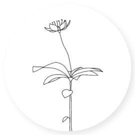 Stickers | Set 10 | Line Flower | Wit