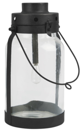 LED Lantaarn met Metalen Bodem | Large | IB Laursen