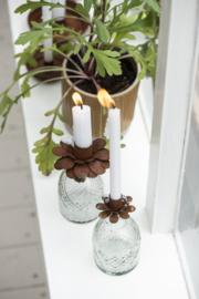 Candle Holder Flower Roest | Voor Dinerkaarsje Ø:2,2 cm | IB Laursen