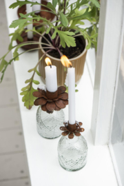 Candle Holder Flower Roest | Voor Smalle Kaars Ø:1,3 cm | IB Laursen