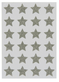 Stickervel met 24 STAR Glitter Stickers | IB Laursen