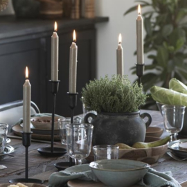 Kandelaar Zwart | Large 28,5 cm | voor Dinerkaars Ø:2,2 | Handmade | IB Laursen