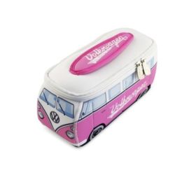 VW Bus | Lunchtas - Toilettas | Small | Roze