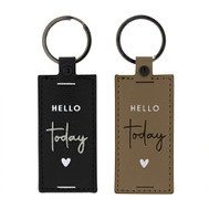 Sleutelhanger   Hello Today   Zwart   Bastion Collections