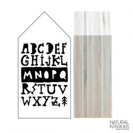 Huisje Hout M | Wit | ABC