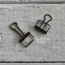 Binderclip Small 19mm Zwart
