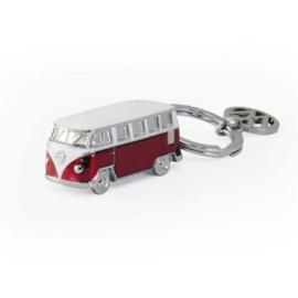 VW T1 Bus | 3D Sleutelhanger | Rood