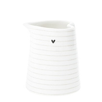Kannetje XS | Stripes ♥ | 125 ml | Wit/Titane/Zwart | Bastion Collections
