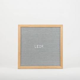 Letterboard M | 30 x 30 | Grijs - Hout