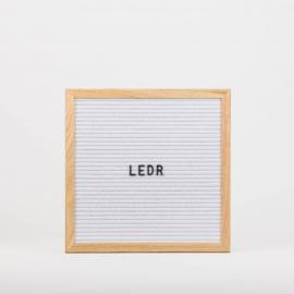 Letterboard M | 30 x 30 | Wit - Hout