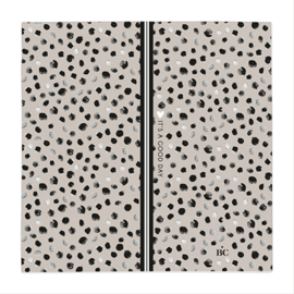 Servetten 'Happy Dots' | 20 stuks | Titane/Zwart | Bastion Collections