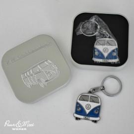 VW T1 Bus | Sleutelhanger Metaal | Blauw