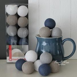 Cotton Ball Lights | Cornflower/Latte | 20