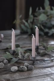 Korte Smalle Kaarsjes | Malva | Set 10 | Ø:1,3 cm