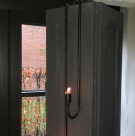 Hangkandelaar Luik | Metaal ZWART  | 50  cm | Puur wonen