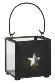 Waxinelichthouder met Hanger & Ster | Zwart | IB Laursen
