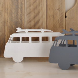 Surfersbus Lamp | Wit | Hout