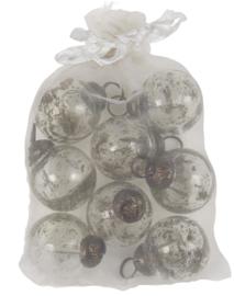 Kerstballen Mini Metal Chips | Clear | Zakje 8 stuks | IB Laursen