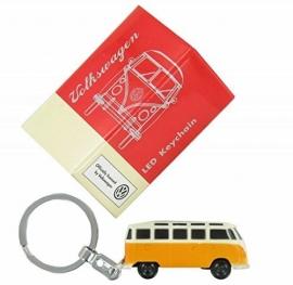 VW T1 Bus | Sleutelhanger  met LED | Geel/Oranje