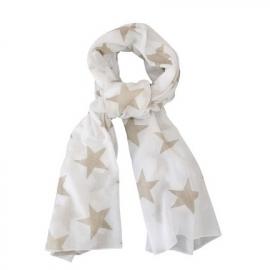 Sjaal Wit met Zand Sterren
