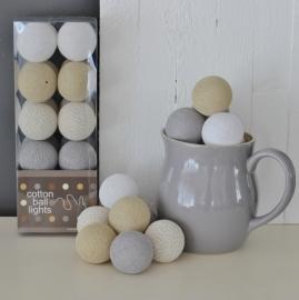 Cotton Ball Lights | Naturel/Grijs | 20
