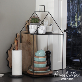 Etagere Huis Metaal | Large | Zwart | 30 x 60 | Bastion Collections