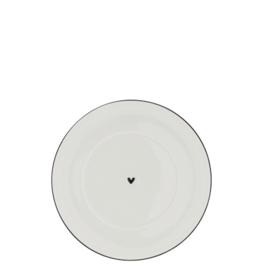 Schotel voor Large Mok met Zwart Randje | 15 cm | Wit/Zwart | Bastion Collections