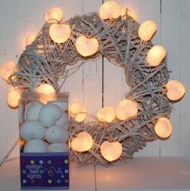 Cotton Ball Light | Hearts | Wit