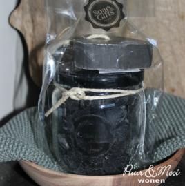 Soap & Giftset | Black | Pot minizeepjes & Zeephanger Hart