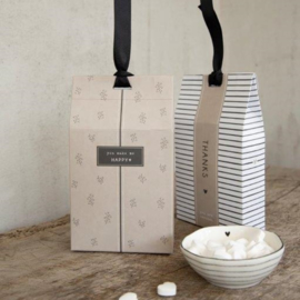 Gift Bag met Pepermunt Hartjes | you make me HAPPY | Bastion Collections