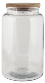 Glass jar w/wooden Cover | 3750 ml | IB Laursen