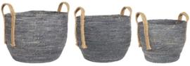 Basket Set | 3 stuks | Dusty Blue | Uitverkocht