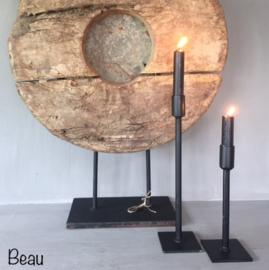Tafelkandelaar | Beau 20/30 cm | Zwart | Puur wonen