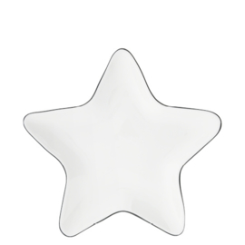 Star Plate | 16 cm | Wit/Zwart | Bastion Collections