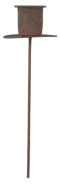 Spieshouder Roest | voor Kaars Ø:2,2 cm | IB Laursen