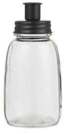 Kandelaar Fles | Zwart | voor Kaars 2,2 cm | IB Laursen