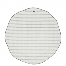 Breakfast Plate Stripes  | Wit/Zwart | 23 cm | Bastion Collections