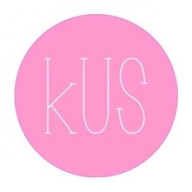 "Stickers ""KUS"" Pastel Roze Set 10"