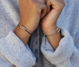 Armbandjes | Fine | Set 2 | Black/Light Grey | Uitverkocht